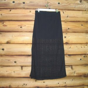 NWOT GUESS Black Lace Maxi Skirt